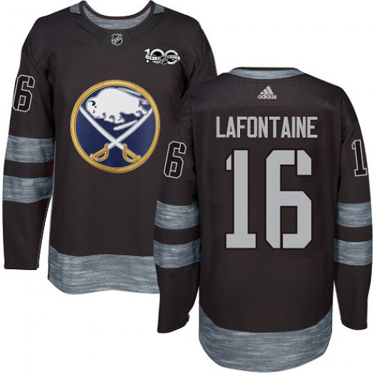 Pat Lafontaine Buffalo Sabres Men's Adidas Authentic Black 1917-2017 100th Anniversary Jersey