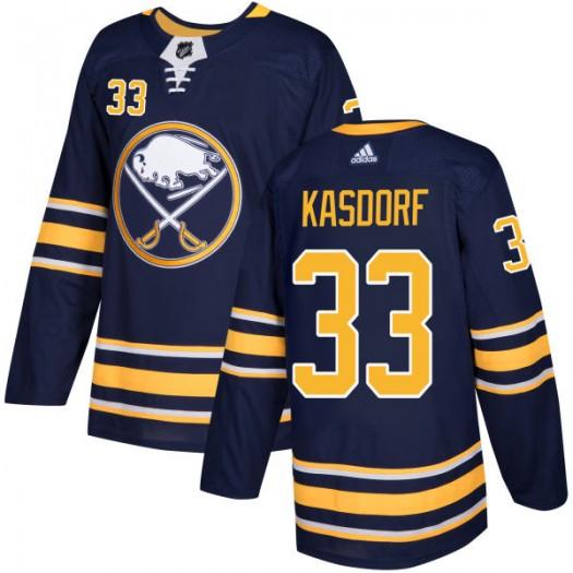 Jason Kasdorf Buffalo Sabres Men's Adidas Authentic Navy Jersey