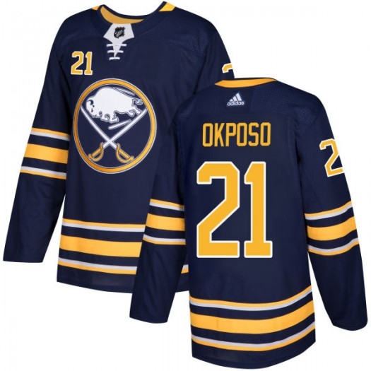 Kyle Okposo Buffalo Sabres Men's Adidas Authentic Navy Jersey