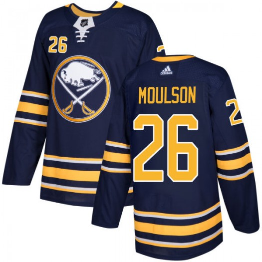 Matt Moulson Buffalo Sabres Men's Adidas Authentic Navy Jersey