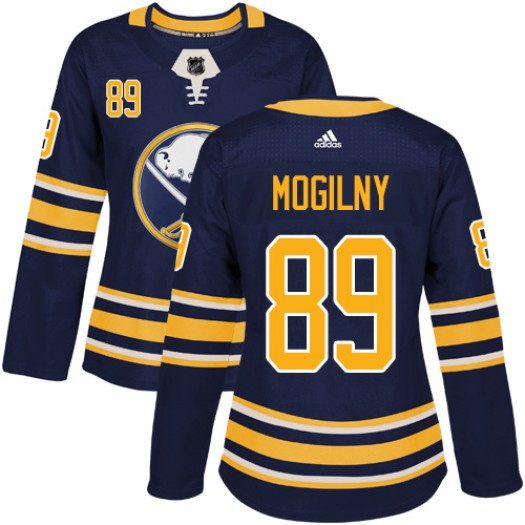 Alexander Mogilny Buffalo Sabres Women's Adidas Authentic Navy Blue Home Jersey