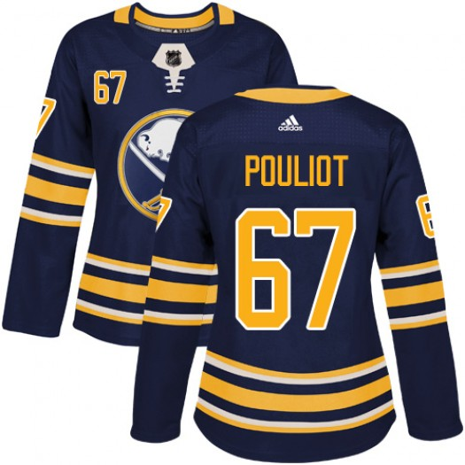 Benoit Pouliot Buffalo Sabres Women's Adidas Authentic Navy Blue Home Jersey