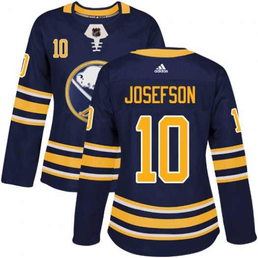 Jacob Josefson Buffalo Sabres Women's Adidas Authentic Navy Blue Home Jersey