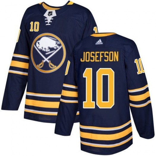 Jacob Josefson Buffalo Sabres Youth Adidas Authentic Navy Blue Home Jersey