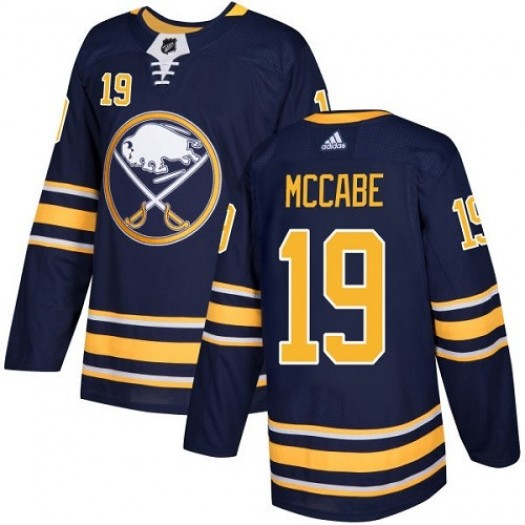 Jake McCabe Buffalo Sabres Youth Adidas Authentic Navy Blue Home Jersey