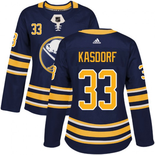 Jason Kasdorf Buffalo Sabres Women's Adidas Authentic Navy Blue Home Jersey