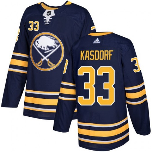 Jason Kasdorf Buffalo Sabres Youth Adidas Authentic Navy Blue Home Jersey