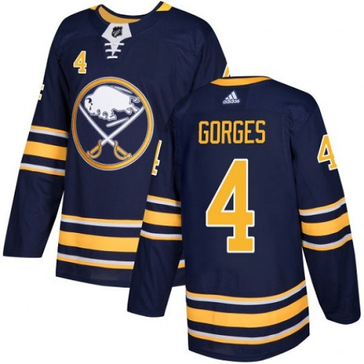 Josh Gorges Buffalo Sabres Youth Adidas Authentic Navy Blue Home Jersey