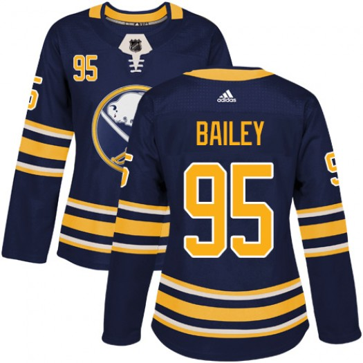Justin Bailey Buffalo Sabres Women's Adidas Authentic Navy Blue Home Jersey