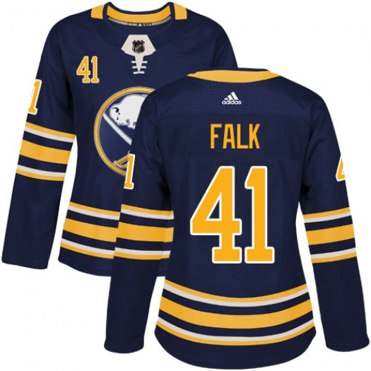 Justin Falk Buffalo Sabres Women's Adidas Authentic Navy Blue Home Jersey