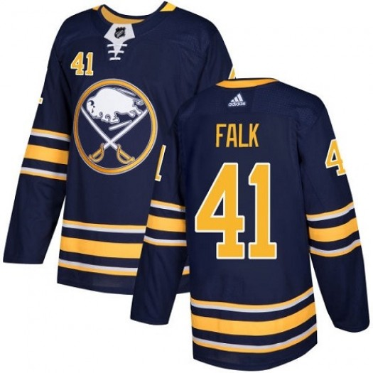 Justin Falk Buffalo Sabres Youth Adidas Authentic Navy Blue Home Jersey