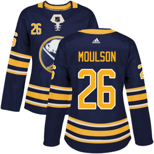 Matt Moulson Buffalo Sabres Women's Adidas Authentic Navy Blue Home Jersey