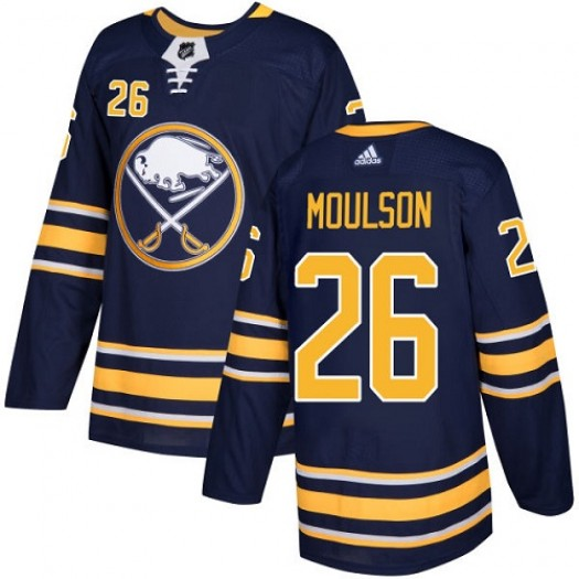 Matt Moulson Buffalo Sabres Youth Adidas Authentic Navy Blue Home Jersey