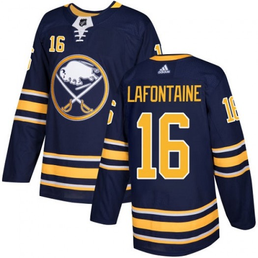 Pat Lafontaine Buffalo Sabres Youth Adidas Authentic Navy Blue Home Jersey