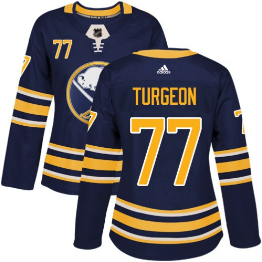 Pierre Turgeon Buffalo Sabres Women's Adidas Authentic Navy Blue Home Jersey
