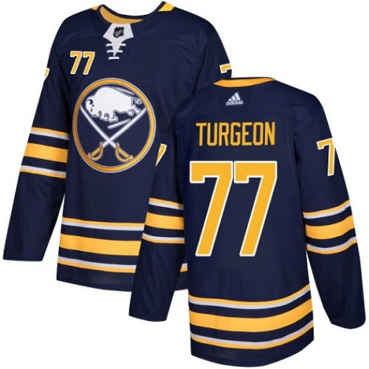 Pierre Turgeon Buffalo Sabres Youth Adidas Authentic Navy Blue Home Jersey