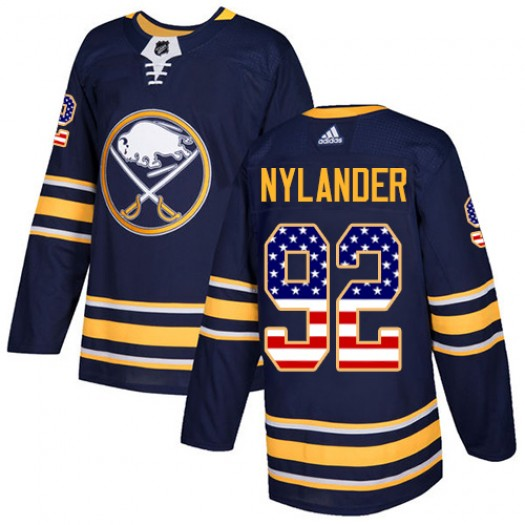 Alexander Nylander Buffalo Sabres Youth Adidas Authentic Navy Blue USA Flag Fashion Jersey