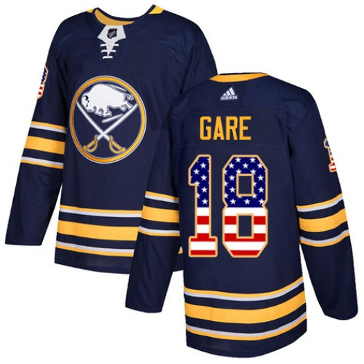 Danny Gare Buffalo Sabres Men's Adidas Authentic Navy Blue USA Flag Fashion Jersey