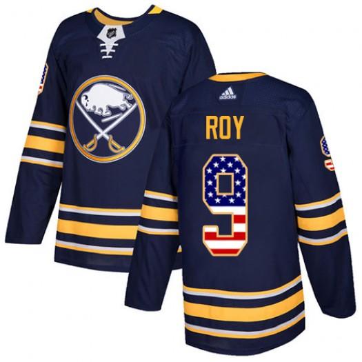 Derek Roy Buffalo Sabres Men's Adidas Authentic Navy Blue USA Flag Fashion Jersey