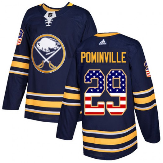 Jason Pominville Buffalo Sabres Men's Adidas Authentic Navy Blue USA Flag Fashion Jersey
