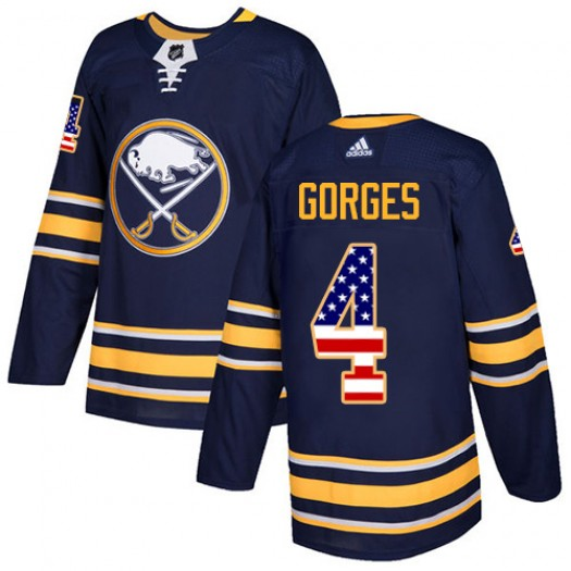 Josh Gorges Buffalo Sabres Men's Adidas Authentic Navy Blue USA Flag Fashion Jersey