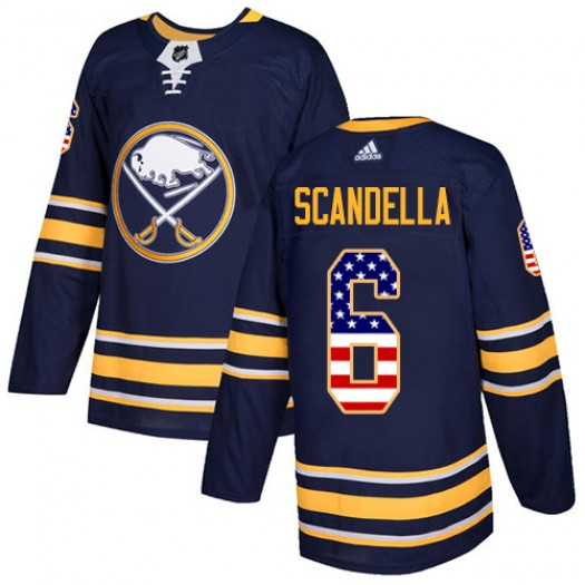 Marco Scandella Buffalo Sabres Youth Adidas Authentic Navy Blue USA Flag Fashion Jersey