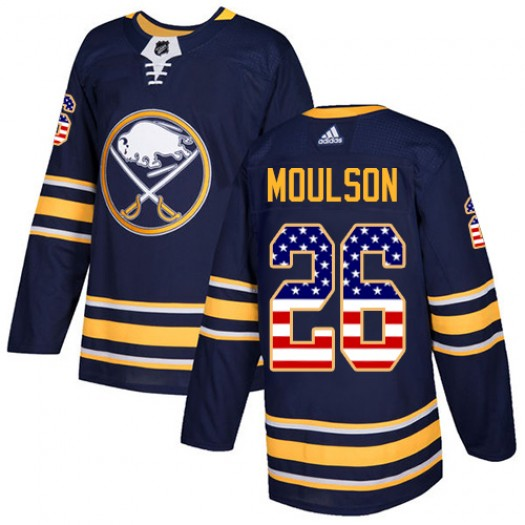 Matt Moulson Buffalo Sabres Youth Adidas Authentic Navy Blue USA Flag Fashion Jersey