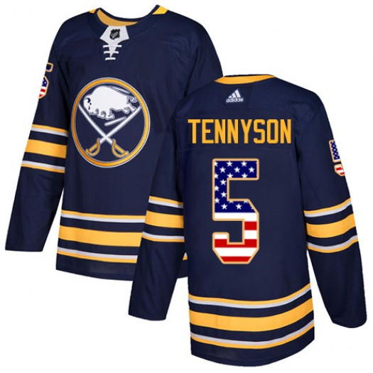 Matt Tennyson Buffalo Sabres Youth Adidas Authentic Navy Blue USA Flag Fashion Jersey