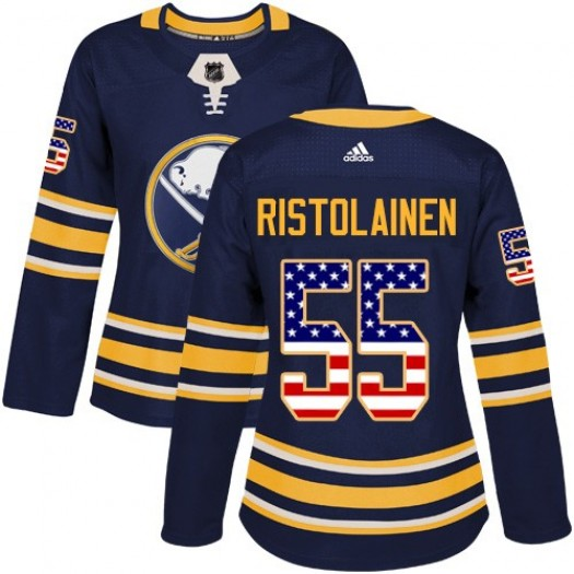 Rasmus Ristolainen Buffalo Sabres Women's Adidas Authentic Navy Blue USA Flag Fashion Jersey