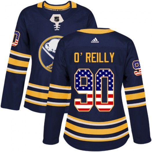 Ryan O'Reilly Buffalo Sabres Women's Adidas Authentic Navy Blue USA Flag Fashion Jersey