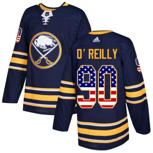 Ryan O'Reilly Buffalo Sabres Youth Adidas Authentic Navy Blue USA Flag Fashion Jersey