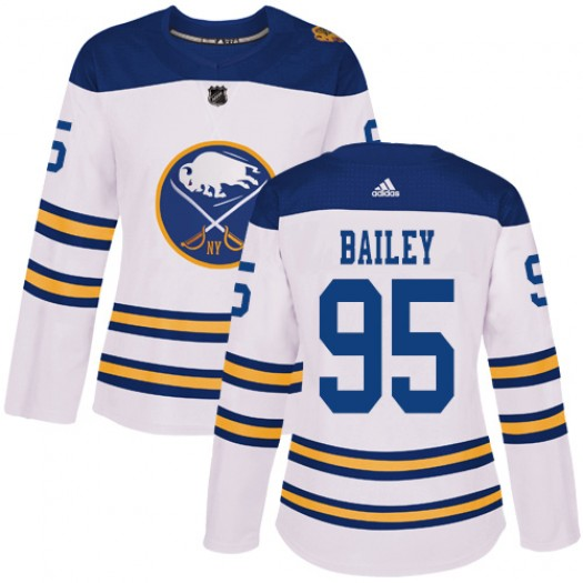 Justin Bailey Buffalo Sabres Women's Adidas Authentic White 2018 Winter Classic Jersey