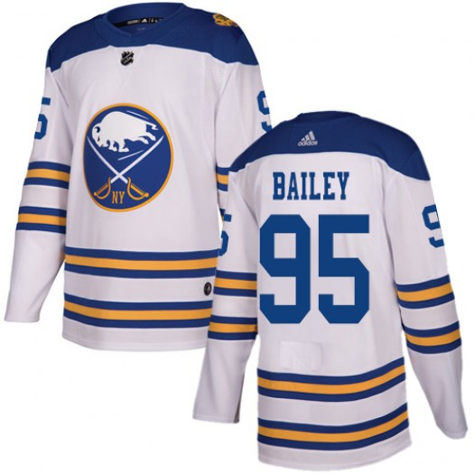 Justin Bailey Buffalo Sabres Men's Adidas Authentic White 2018 Winter Classic Jersey