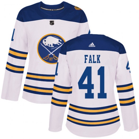 Justin Falk Buffalo Sabres Women's Adidas Authentic White 2018 Winter Classic Jersey