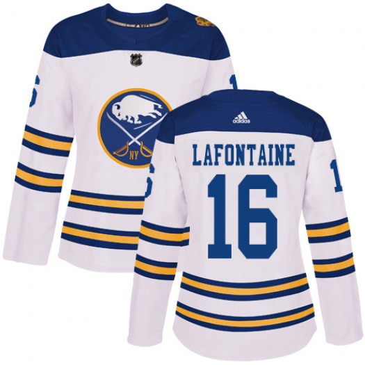 Pat Lafontaine Buffalo Sabres Women's Adidas Authentic White 2018 Winter Classic Jersey