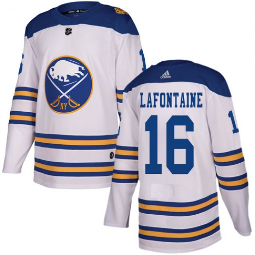 Pat Lafontaine Buffalo Sabres Men's Adidas Authentic White 2018 Winter Classic Jersey