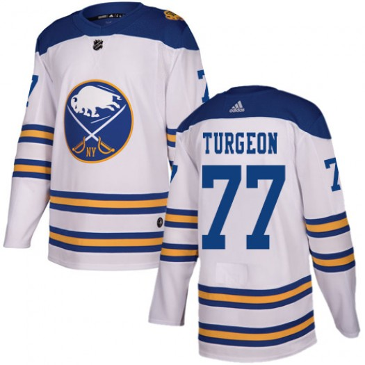 Pierre Turgeon Buffalo Sabres Youth Adidas Authentic White 2018 Winter Classic Jersey